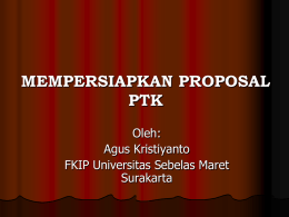 2. mempersiapkan proposal ptk