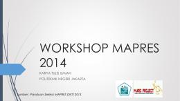 WORKSHOP Karya tulis ilmiah