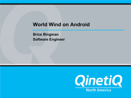 World Wind on Android - Mil-OSS