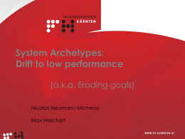System Archetypes - eroding goals_final2