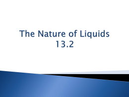 The Nature of Liquids