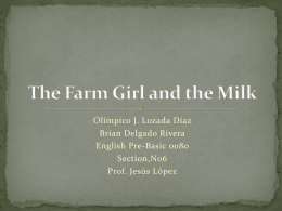 The Farm Girl and the Milk
