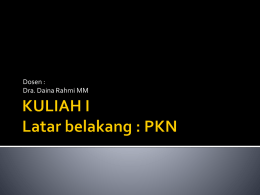 KULIAH I PKN - WordPress.com
