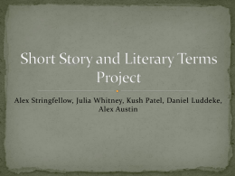 Short Story and Literary Terms Project