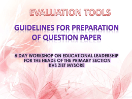 question paper guidelines