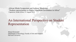 Klemencic_An international perspective on student