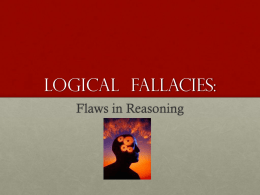 ENC1101 Logical Fallacies