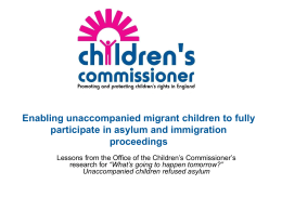 Enabling unaccompanied migrant children to fully participate in