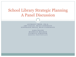 School Library Strategic Planning - The University of North Carolina