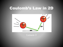 Coulombs Law in 2D