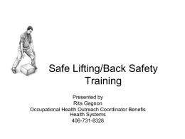 Safe Lifting PowerPoint Presentation