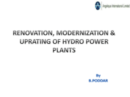 Renovation, Modernization & Uprating of Hydro