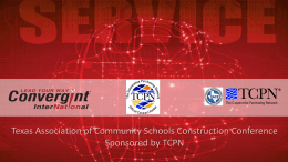 1 - Texas Association of Community Schools