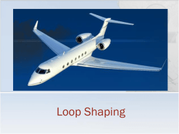 Lecture 27: Loop Shaping Compensation