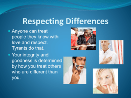 12 Respecting Differences