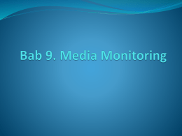 Bab 9. Media Monitoring.