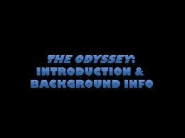 """The Odyssey"" background power point"