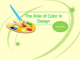 The Role of Color in Design PowerPoint Presentation