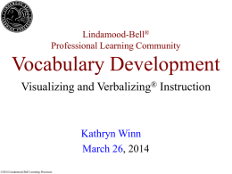 Vocabulary Development - Carroll County Schools