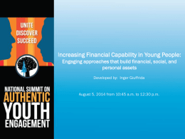 Financial Capability - Jim Casey Youth Opportunities Initiative