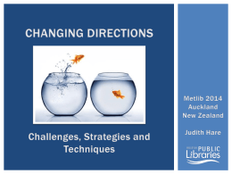Judith Hare – Changing Direction