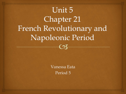 Unit 5 French Rev and Napoleon Seminar