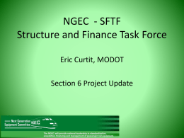 Structure and Finance Task Force Report