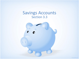 3.3 Savings Accounts