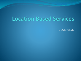 LocationBasedServices