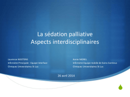 La sédation palliative Aspects multidisciplinaires