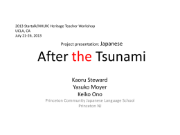 Project presentation: Japanese After Tsunami