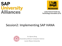 Session_2_Implementing_HANA - Lenoir