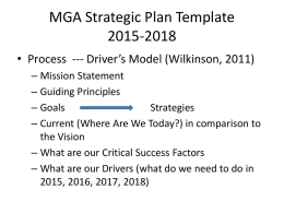MGA Strategic Plan Template