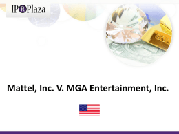 Mattel, Inc. V. MGA Entertainment, Inc.