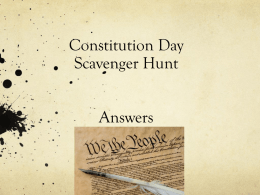 Constitution Day Scavenger Hunt Answers - MHS