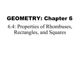 Geometry 6_4 Properties of Rhombuses_ Rectangles_ and Squares