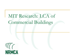 LCA of Commercial Buildings - National Ready Mixed Concrete