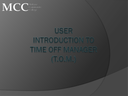 Introduction To Time off manager (Tom)