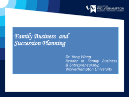 Family Business Dynasty - University of Wolverhampton
