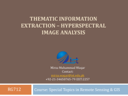Thematic information extraction * hyperspectral