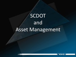SCDOT and Asset Management by David Cook