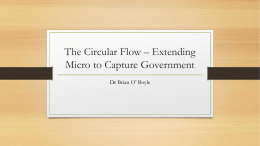 The Circular Flow * Extending Micro to Capture Government