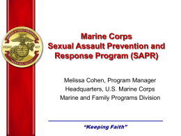 Marine Corps Sexual Assault Prevention and Response Program