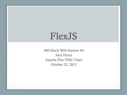 FlexJS 360|Stack Web Session #4
