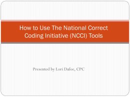 How to Use The National Correct Coding Initiative
