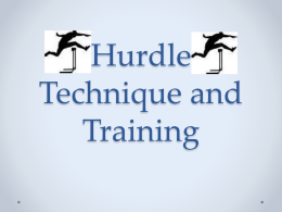 hurdle training and techniques (ppt)