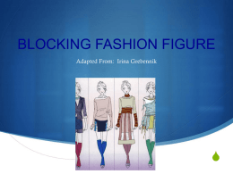 FASHION FIGURE MAPPING LESSON