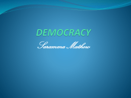 6. democracy - Prof. Dr. Saramma Mathew
