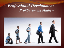 Need and importance of professional development programmes
