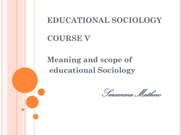 19. meaning of sociology